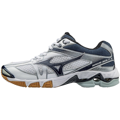 Mizuno Women's Wave Bolt 6 - White/Navy