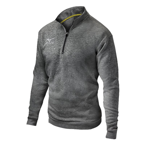 Mizuno 1/2 Zip Fleece Pullover- Heathered Charcoal