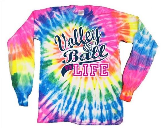 Volleyball Like- Tye Dye