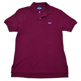 Men's Classic Boat Tie Polo Shirt - Burgundy