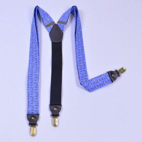 Sailboats & Fish Suspenders - Light Blue