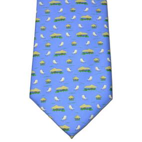 The Tiki Lounge Tie - Blue