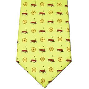 Wagon Wheel Tie - Yellow