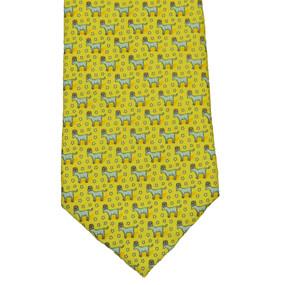 Vineyard Vines Political Democrat Donkey Neck Tie - Yellow