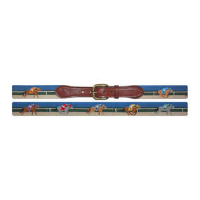 Smathers and Branson Derby Needlepoint Belt - Scene