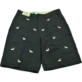 Cisco Embroidered Shorts with Whales - Navy