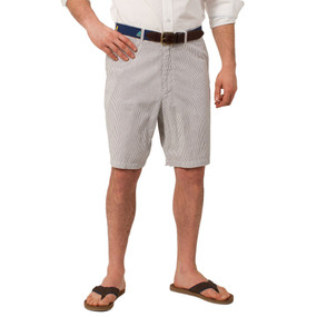 Castaway Clothing Cisco Seersucker Shorts - Navy