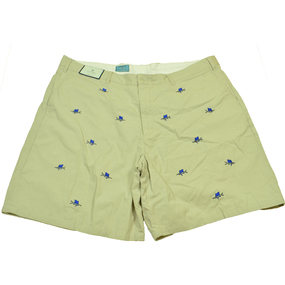Cisco Embroidered Shorts with Sailfish - Stone