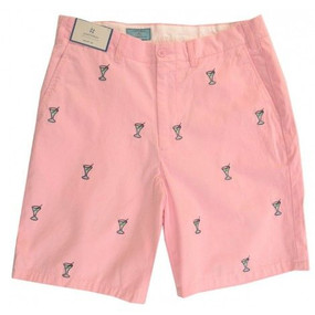 Cisco Embroidered Shorts with Martini - Pink