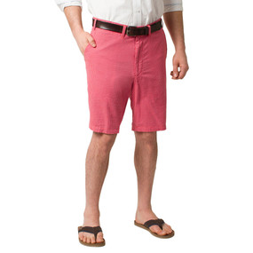 Castaway Clothing Cisco Seersucker Shorts - Red