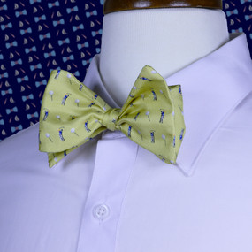 Tee Time Bow Tie - Yellow