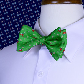 Horses & Horseshoes Bow Tie - Green