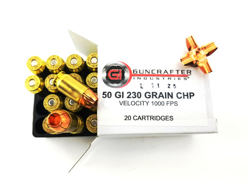 .50GI 230gr Solid Copper Hollow Point Ammunition | Guncrafter Industries