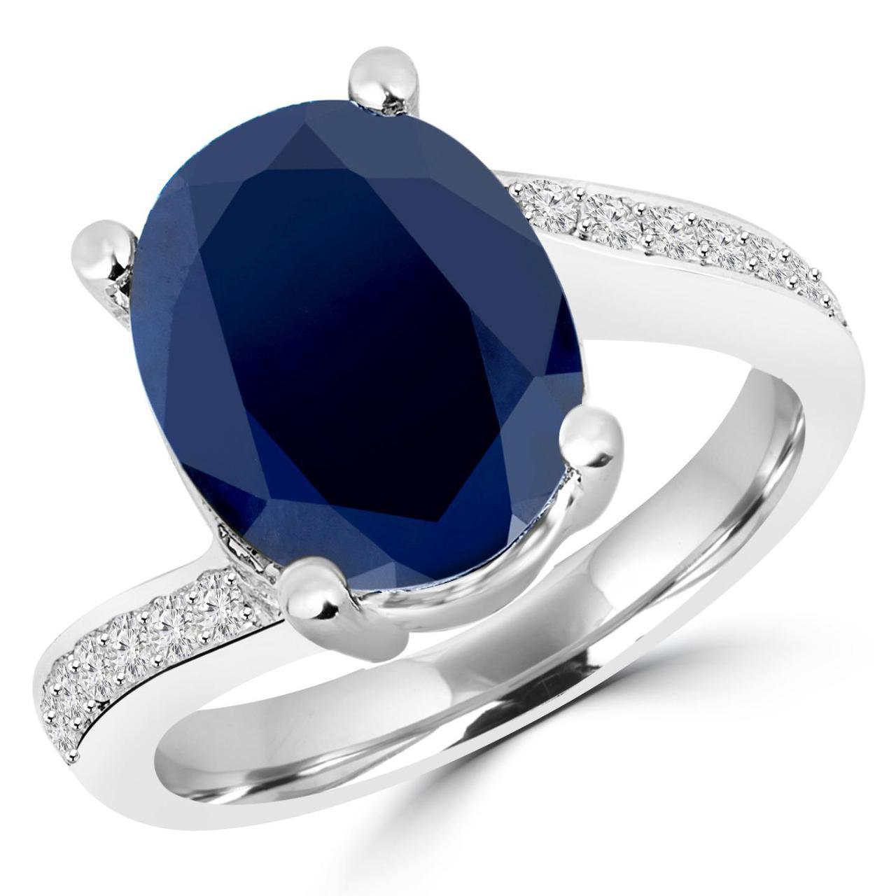 Oval Sapphire Ring | Bijoux Majesty