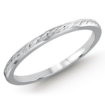 1.5 MM braid design white gold matching band (MDVB0499) - #MBJ-007W