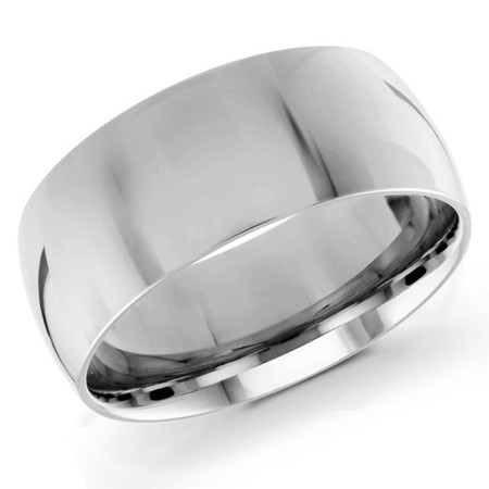 Mens 9 MM white gold dome comfort fit band - #J-100-920G