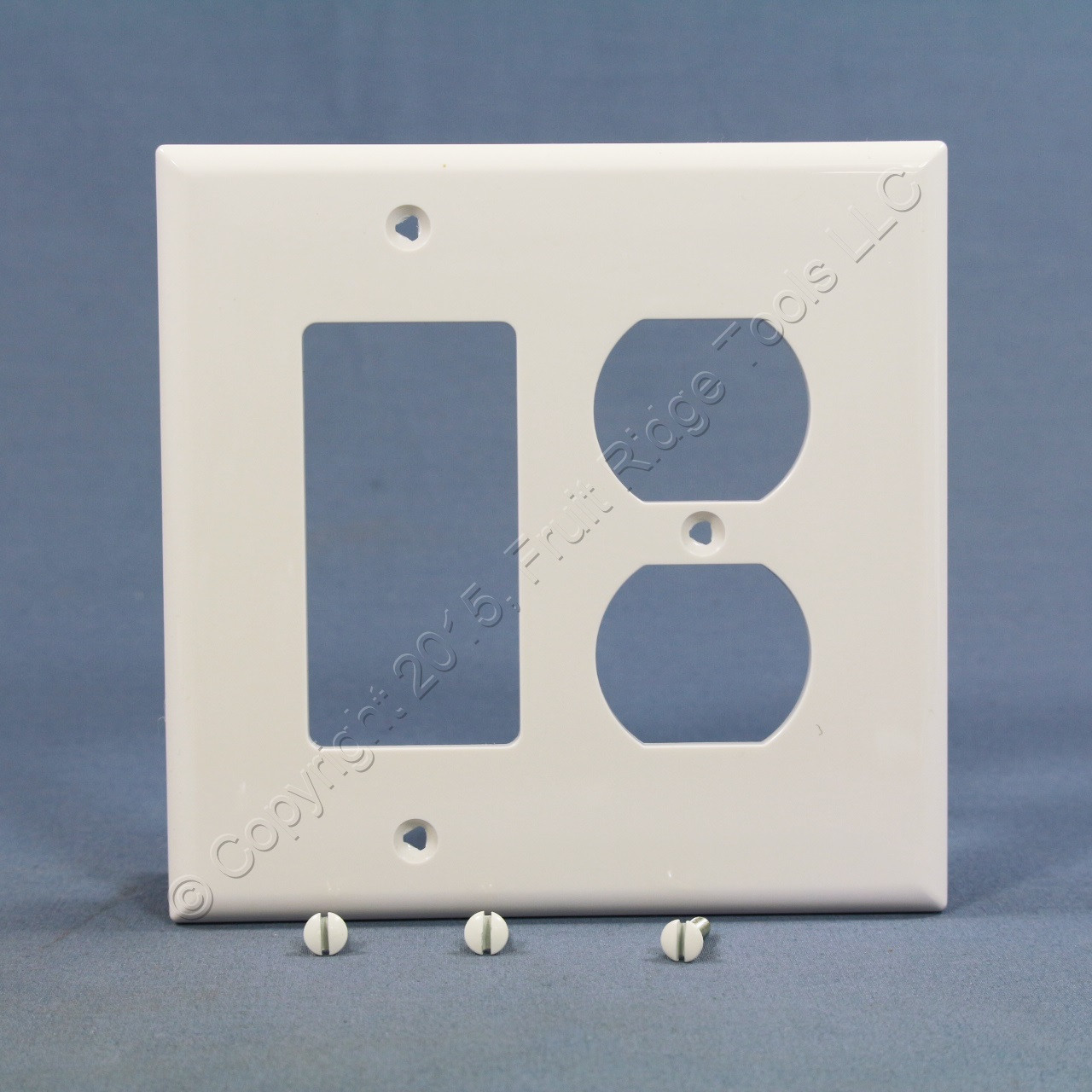 Metal Electrical Outlet Covers Oversized Outlet Covers: Shop Cooper White UNBREAKABLE 2-Gang Duplex Outlet Cover