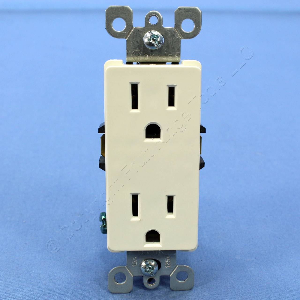 Residential Electrical Receptacles Best Secret Wiring Diagram Code Shop Leviton Faded White Decora Receptacle
