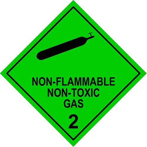 non flammable non toxic gas 2, model no. 2.2