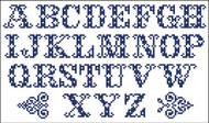 Vintage Alphabet Cross 10301