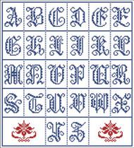 Vintage Alphabet Gothic 2062