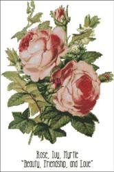 Floral Emblems 001-Rose, Ivy, Myrtle
