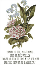 Floral Emblems 006-Forget Me Not, Hawthorn, Lily of the Valley