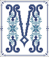 Decorative Blue Alphabet M