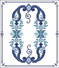 Decorative Blue Alphabet O