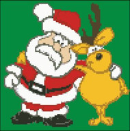 Santa with Deer