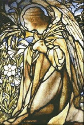 Angel Stained Glass Window Detail