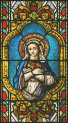 Our Lady Stain Glass