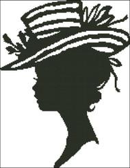 Ladies Hat Silhouette 007