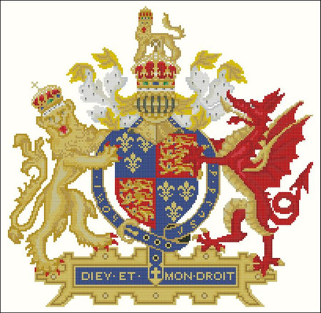 Coat of Arms Lion and Dragon - PinoyStitch