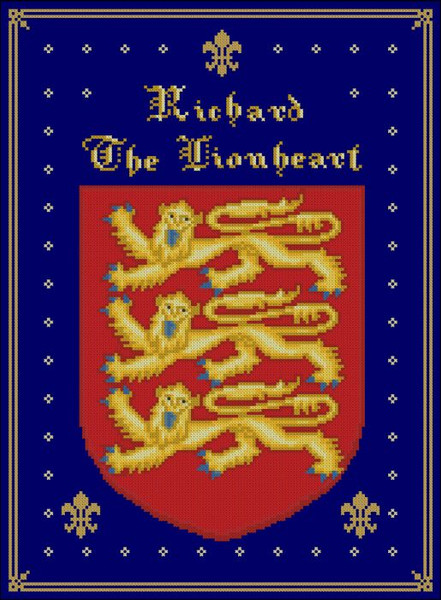 Coat Of Arms Richard The Lionheart Pinoystitch