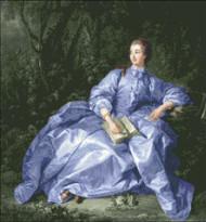 Madam Pompadour Blue Violet Gown