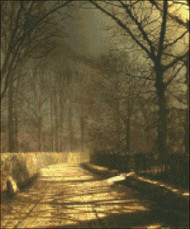 A Moonlit Lane with Two Lovers
