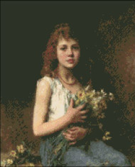 Girl with Spring Flowers