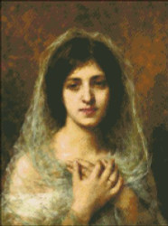 Portrait of a Young Girl by Harlamoff