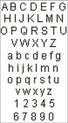 Arial Alphabet