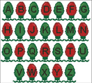 Christmas Lights Alphabet