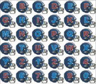 Football Helmets Alphabet