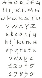 Hand Writing Stylish Alphabet
