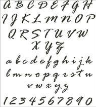 Italics Styled Alphabet
