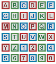 Playing Baby Blocks Alphabet