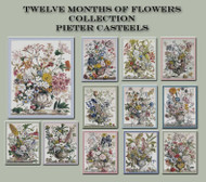 Twelve Months of Flowers Cross Stitch Collection
