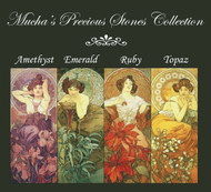 Mucha's Precious Stones Cross Stitch Pattern