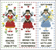 Flower Fairy Bookmark July to September