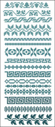 Border Motifs 003 (Leaves & Geometric)