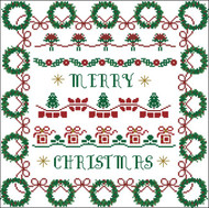 Christmas Wreath Borders Sampler